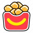 fast, fast food, food, french, junk, meal, nugget