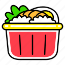 fast, fast food, food, french, junk, meal, rice bowl