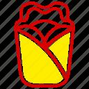 dessert, fast, fast food, food, junk, meal, wrap icon