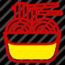 fast, fast food, food, junk, meal, noodle, spaghetti icon