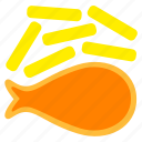 eat, fast, fast food, fish and chips, food, junkfood, meal icon