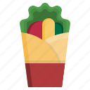 burrito, fast, food, delivery, junk, restaurants icon