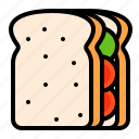 bread, food, hamburger, hotdog, loaf, sandwich, toast icon