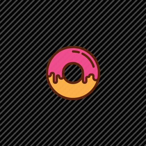 donut, doughnut, fast, food, snack, sugar icon