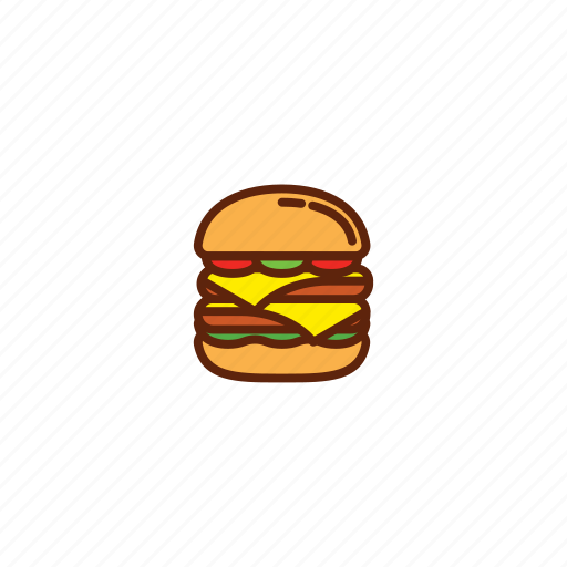 burger, cheese, fast, food, meal icon