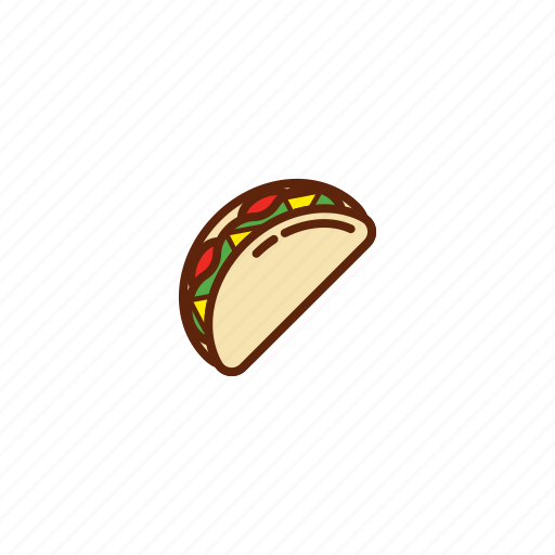 fast, food, meal, tacos icon