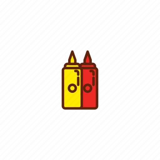 bottle, fast, food, mustard, sauce icon