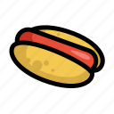 fast, food, hot dog, menu, restaurant, sausage icon