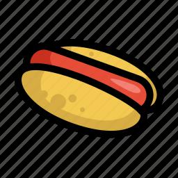 fast, food, hot dog, menu, restaurant, sausage icon