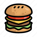 burger, fast, food, menu, restaurant icon