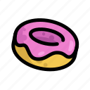 donut, fast, food, menu, restaurant icon