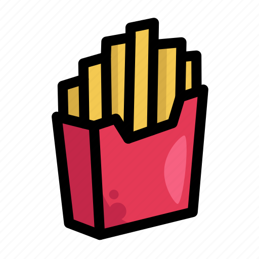 fast, food, french fries, fries, menu, restaurant icon