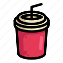 drink, fast, food, menu, restaurant, soda icon