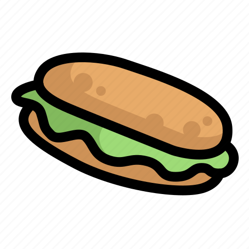 bread, fast, food, menu, restaurant, sandwich icon