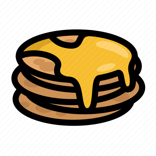 fast, food, menu, pancakes, restaurant icon