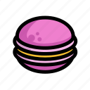 fast, food, macaron, menu, restaurant icon