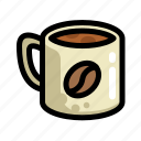 coffee, cup, fast, food, menu, restaurant icon