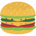 cheesburger, fast, food, hamburger icon