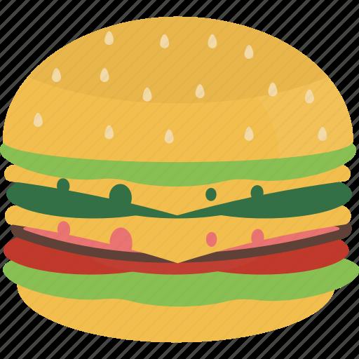 cheesburger, fast, food, hamburger icon