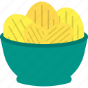 chips, fast, food, plate icon
