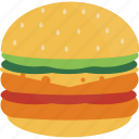 cheese, fast, food, hamburger icon