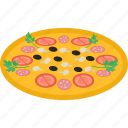 fast, food, meat, pizza, tomato icon