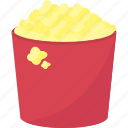 dish, fast, food, popcorn icon