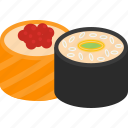 fast, fish, food, sushi icon