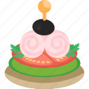 cake, fast, food, vegetables icon