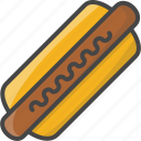 dog, fast, filled, food, hot, outline icon
