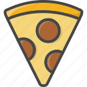 filled, food, outline, pizza, slicefast icon