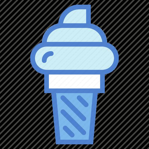 cone, cream, dessert, ice, summer, sweet icon