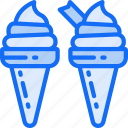 cones, cream, dessert, fast food, ice, sweet, treats icon