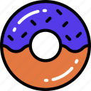 dessert, doughnut, fast food, sweet, treats icon