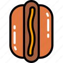 fast food, hotdog, sauces, sausage, stand icon