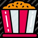 fast food, movies, popcorn, sweet, treats icon
