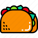 eating, fast food, mexico, taco, take away icon