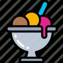 cream, dessert, fast food, ice, sweet, treats icon