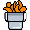 cooking, eating, fast food, popcorn, prawn, shrimp icon