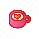 cafe, cappuccino, coffee, drink, latte icon