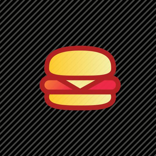 bread, burger, fast, food, hamburger icon