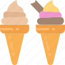 cones, cream, dessert, fast food, ice, sweet, treats icon