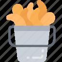 cooking, eating, fast food, popcorn, prawn, shrimp icon