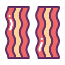 bacon, breakfast, fast, food, meat
