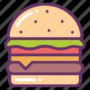 bun, fast, food, hamburger, meat