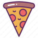 cheese, fast, food, pepperoni, pizza, slice icon