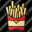 dinner, fastfood, food, fries, healthy, potato, salt icon