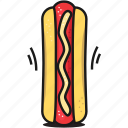dog, fastfood, food, hot, sandwich, street, toast icon