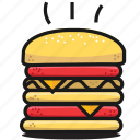 burger, dinner, eat, fastfood, food, humburger, tasty icon