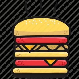 burger, dinner, eat, fastfood, food, humburger, tasty icon